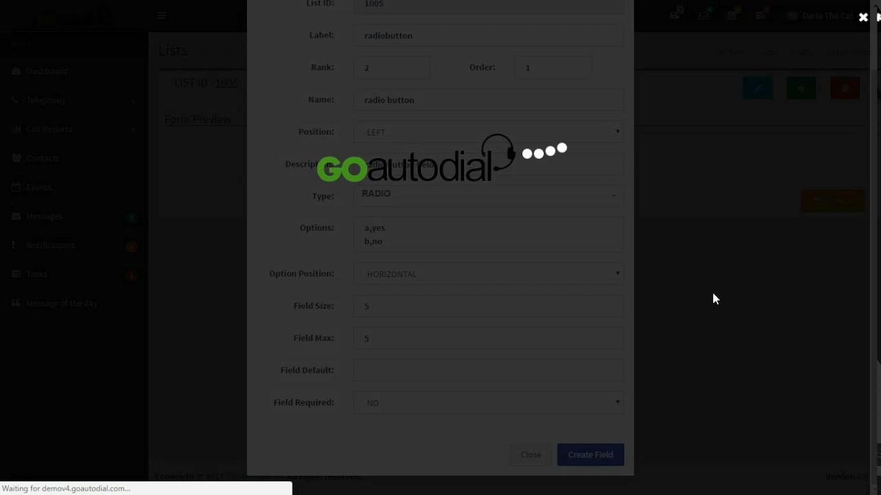How to Add Custom Fields in Goautodial V4