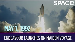 OTD in Space – May 7: Space Shuttle Endeavour Launches on Maiden Voyage