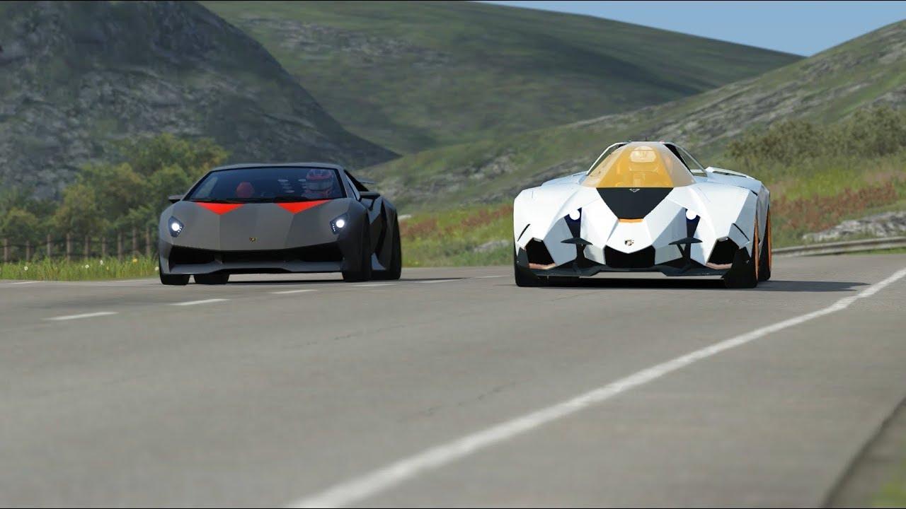 Lamborghini Egoista Concept Vs Lamborghini Sesto Elemento At