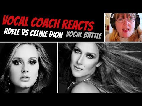 Vocal Coach Reacts to Celine Vs Adele VOCAL BATTLE