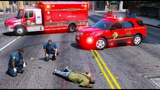 GTA 5 Firefighter Mod New Seagrave Engine Responds To Its First