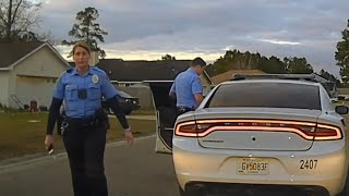 "Dash Cam of 17 year old photographer. ""Like father like son"" says the officer. Kingsland GA"