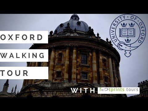 Travel Vlog 7: Oxford part 1  -  walking  with footprint tours