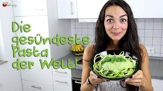 ZUCCHINI NUDELN (Zoodles) | Rezept für Gemüse Spaghetti | vegane Rohkost