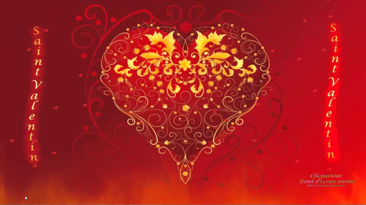 Fond écran animé Saint Valentin 2013 - YouTube