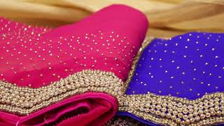 latest designer stone work sarees for eid and wedding and bridal parys122