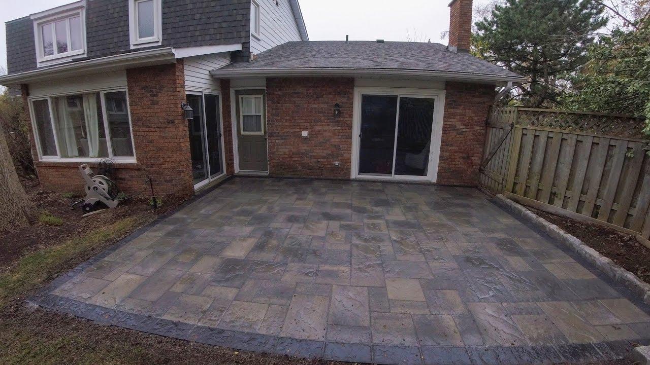 Backyard Patio With Unilock Pavers