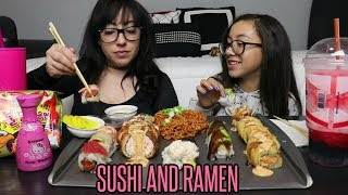 SUSHI AND RAMEN MUKBANG | EATING SHOW