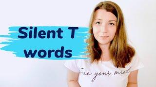 """Слова с немой буквой """"t"""" в английском. Silent T words."""