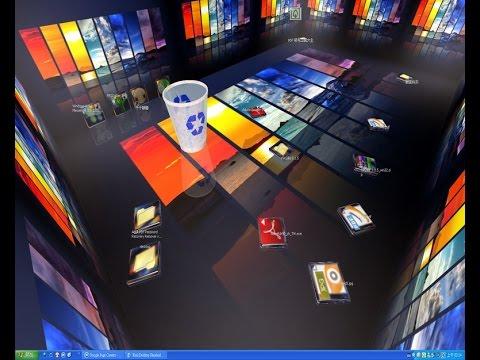 طريقة جعل سطح المكتب في وندوز 7 وندوز8 خلفية متحركه ثلاثي الابعاد