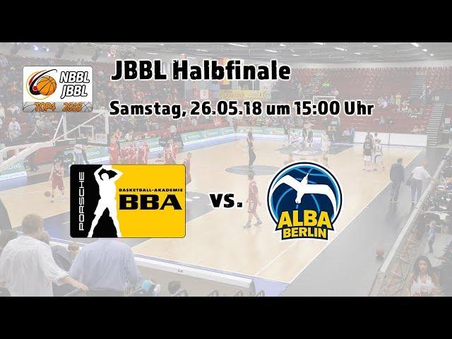 JBBL Halbfinale 2018: Porsche BBA Ludwigsburg - ALBA BERLIN (volle Länge!)