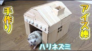 アイス棒だけで作る!ハリネズミのお家【DIY】 thumbnail