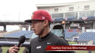 Carlos Correa Opening Day Interview (Houston Astros Top Prospect)