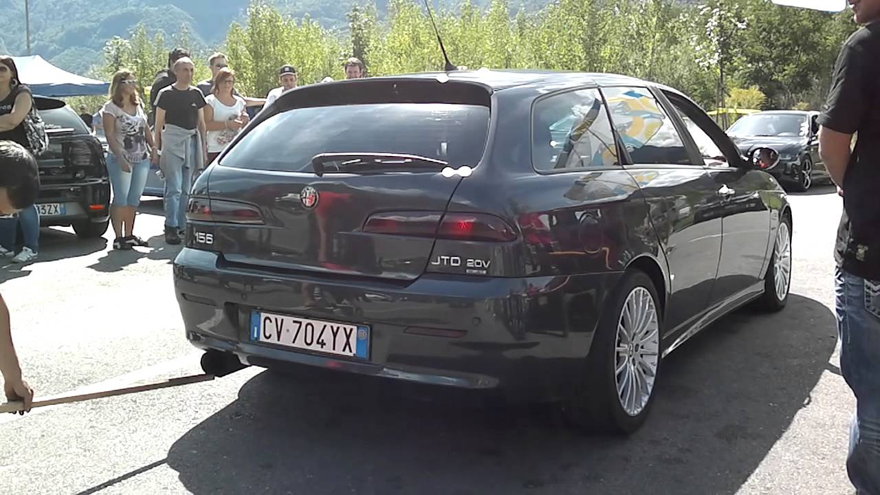 exhaust sound test alfa romeo 156 2 4 jtd 20v youtube. Black Bedroom Furniture Sets. Home Design Ideas