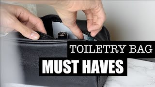 How To Pack Your Toiletry Bag | What's In My Mens Toiletry Bag
