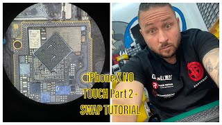 iPhone X NO TOUCH Part 2 - How to SWAP the bottom board on an iPhone X fast & easy - Step by Step