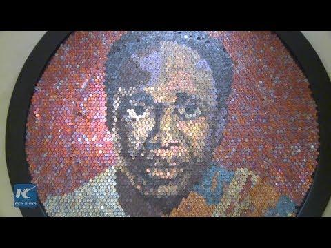 Ghanaian artist turns coin into artwork