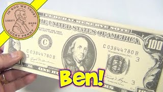 $100 Dollar Bills Benjamin Franklin Ruled Money Memo Desk Note Pads, 1990 Action Industries