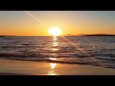 4K Perfect Sunset Ocean Waves 432Hz ☀️ASMR Beach Ambience☀️Calming Sea Sounds   Es Vedrá-Formentera