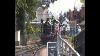 GWR Prarie 5239 Goliath arrives into Paignton with a service from Kingswear