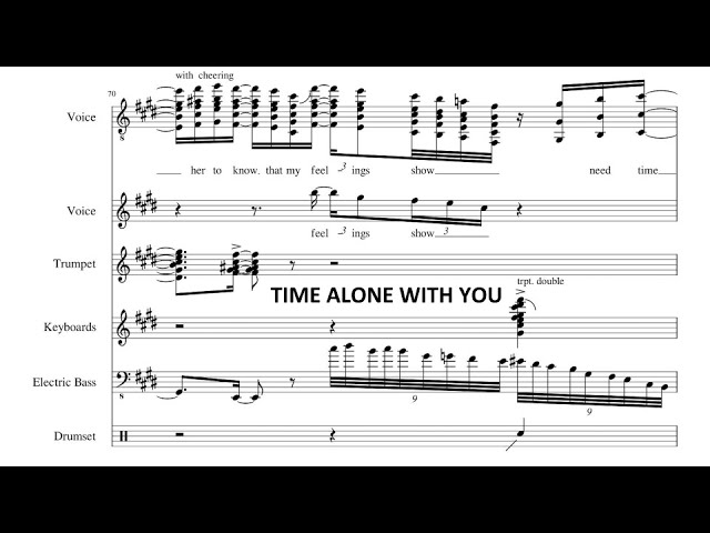 Time Alone With You- Jacob Collier and Daniel Caesar (Transcription)