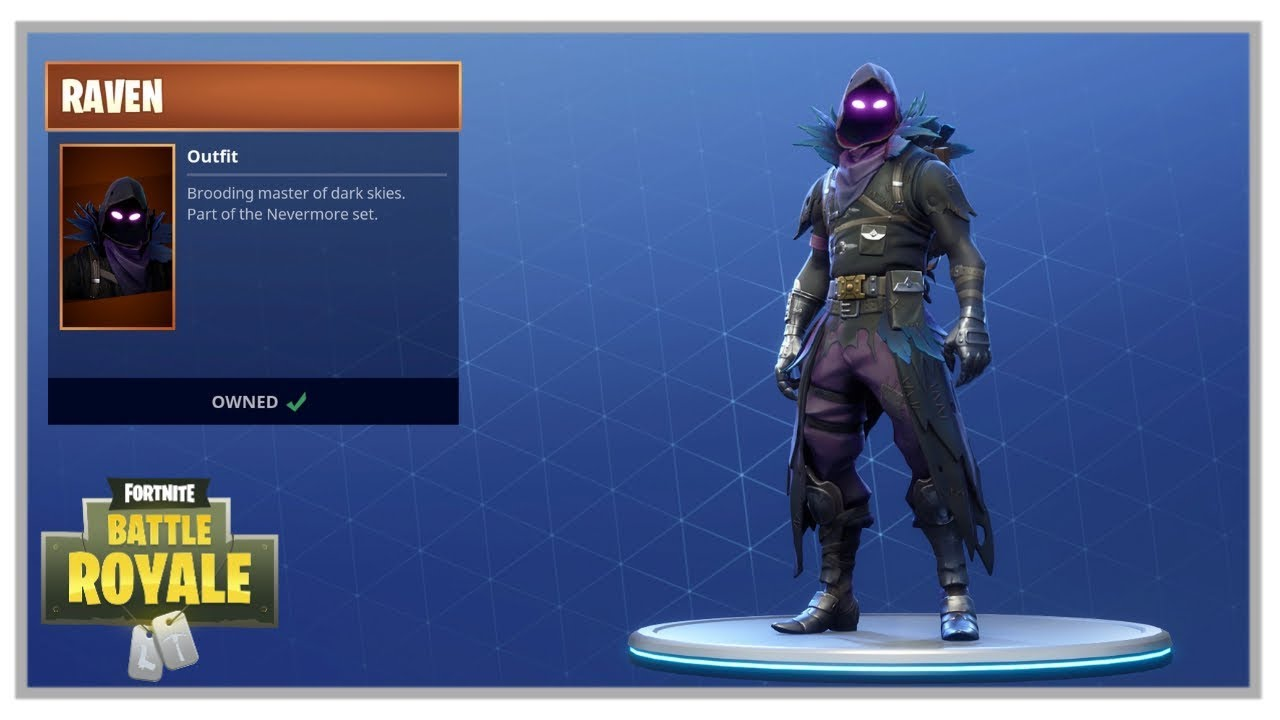 Fortnite Raven Outfit Raven Backpack And Raven Glider Now