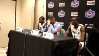 12/18/10 -- Coach Haith, Malcolm Grant & Durand Scott Postgame