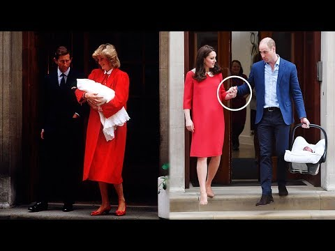 It's Sweet! Kate paid tribute to Lady Di & hold hands William leaving the hospital