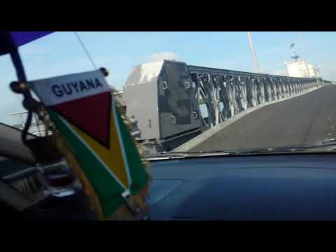 One of the longest floating bridges in South America, Berbice floating bridge Guyana