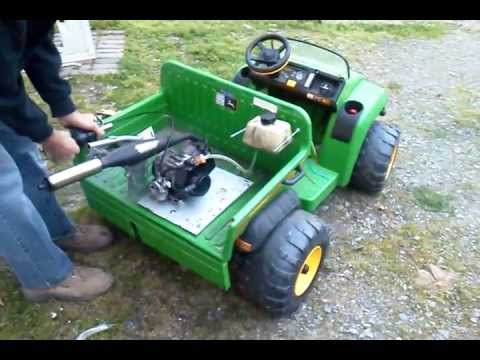 John Deer Gas Powered Power Wheel Youtube