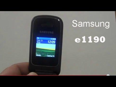 Samsung E1190 (English review)
