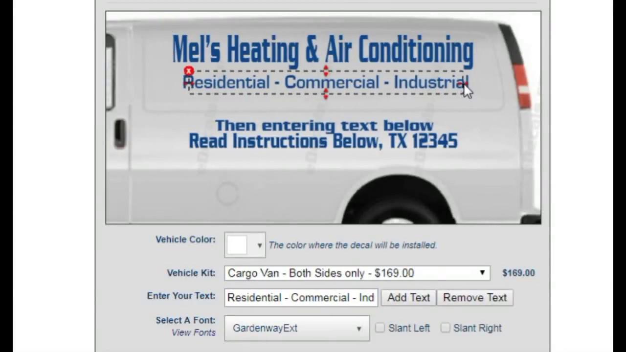 Free online truck lettering design van trailer kits fast shipping