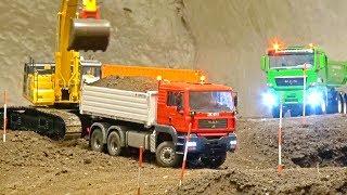 RC CONSTRUCTION ACTION! Liebherr! MAN! MB Arocs! Komatsu! Rc Truck Action!