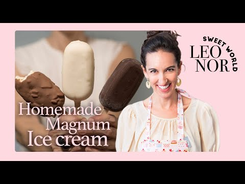 HOW TO MAKE HOMEMADE MAGNUM ICE CREAM AT HOME (NO ICE MACHINE) | Leonor's Sweet World – English