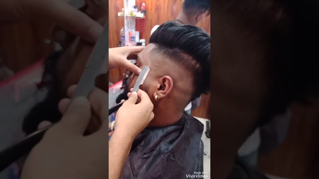 Amazing fadeshair cut done by riyazalvi - YouTube