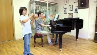 Т.Альбинони. Концерт для трубы ми бемоль мажор, 4часть.Невретдинов Ильяс 9лет.
