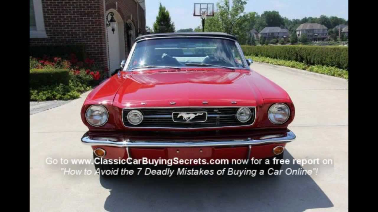 1966 Ford Mustang Fuel Injected Classic Muscle Car For Sale In Mi Vanguard Motor Sales Youtube