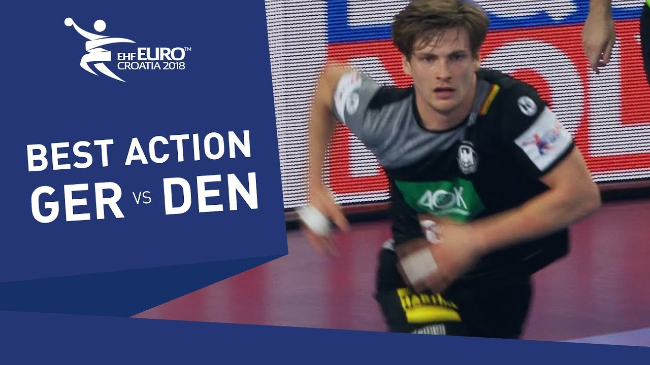 Incredible save by Rune Dahmke at the European Handball Championship