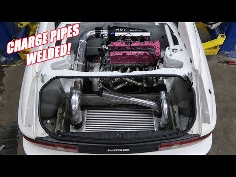 Twin Turbo Mr2 Has Intercooler Pipes!