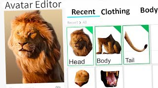 MAKING THE LION KING A ROBLOX ACCOUNT!!