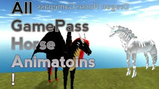 (Roblox) Horse World: All Gamepass Horses And there Animations!