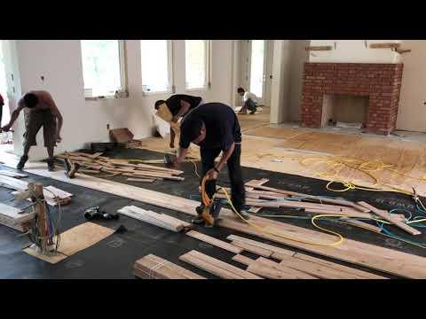 Nail Down Hardwood Floor Installation!
