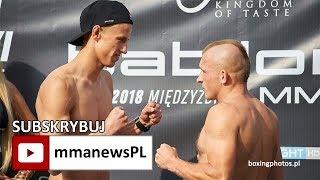 Krystian Krawczyk nawodniony aż 3 litrami mleka po ważeniu Babilon MMA 5
