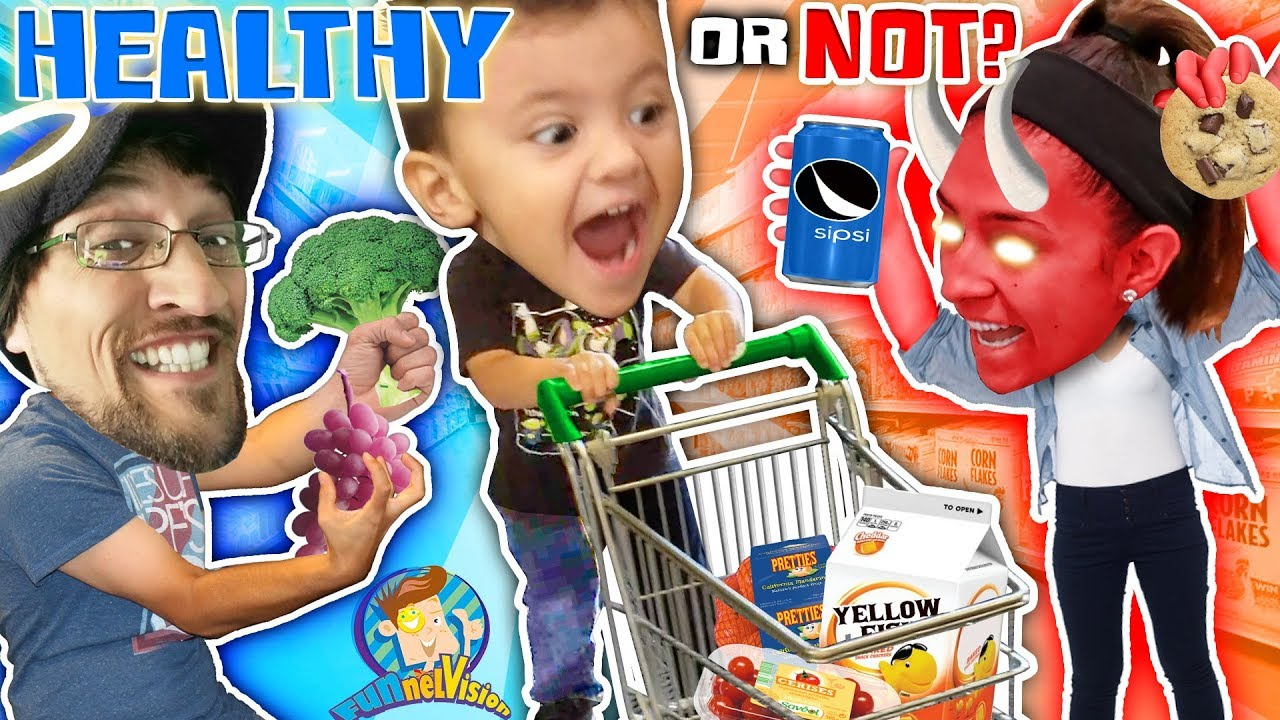Download SHAWN GOES GROCERY SHOPPING!  Healthy or Not Vision (FUNnel Fam Vlog)