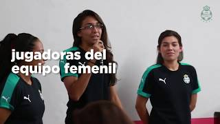 embeded bvideo Club Santos Femenil - Visita Mujeres Salvando Mujeres