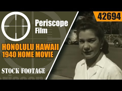 HONOLULU HAWAII 1940  HOME MOVIE  42694