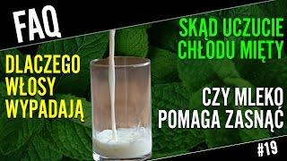 Chłód od mentolu i szklanka mleka na sen | FAQ#19