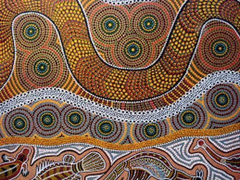 Aboriginal Art Painting, Dreamtime  EnglishWithSophia