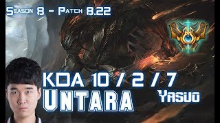 Untara YASUO vs SION Top - Patch 8.22 KR Ranked