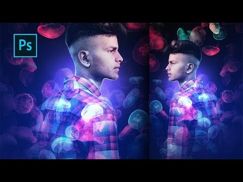 Create a Jellyfish Light Effect - Photoshop Tutorial thumbnail